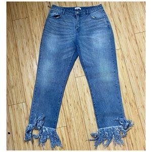 NWT K-Lab Fringe jeans
